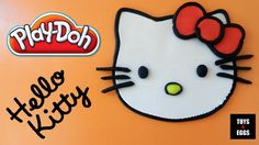 Play Doh Hello Kitty - How to make a Hello Kitty with playdough easy!