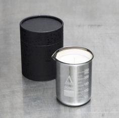 Alchemy Produx Metallic Beaker Candle - Silver