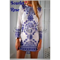 Lovely Blue & White Tunic or Dress Size M This one of my favorite items yet. This tunic/dress is to die for and received 5 star reviews from my manufacturer. I have sizes S(2-4), M(6-8), & L(10-12), but I won't have many of each! I will post real modeled pics soon. This is THE perfect outfit to bring in Spring and Summer. It literally looks like a porcelain pattern and the material is exceptional quality. Please let me know if you have any questions or need measurements. Price is firm unless…