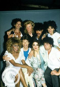 The Rolling Stones, Tina Turner, Hall and Oates, Bob Dylan, and Madonna, 1985