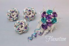 Paua flax bouquets by Flaxation. www.flaxation.co.nz Wedding Decorations On A Budget, Wedding Ideas, Flax Weaving, Pearl Bouquet, Flax Flowers, Color Themes, Wedding Colors, Wedding Bouquets, Flower Arrangements