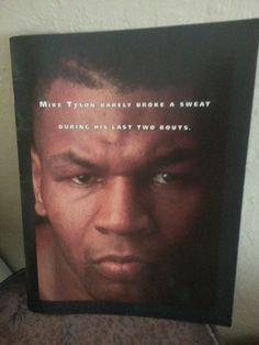 Mike Tyson Mirage invitation from Tyson/Bruno fight collectible! MINT