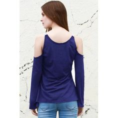 Sweet Laced V-Neck Long Sleeve T-Shirt For Women - XL XL