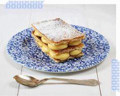 Milhojas caramelizadas con crema pastelera
