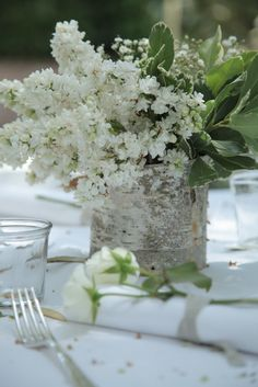 Birch container centerpieces (I own a few and can get them very cheap)