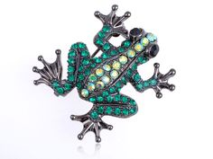 Fashion Green Rhinestone Prince Charmed Happy Frog Fashionable Custom Brooch Pin | eBay