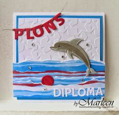 D Marianne Design, I Card, Children, Kids, Origami, Birthday Cards, Symbols, Dolphins, Letters