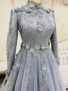 Muslimah Wedding Dress, Hijab Wedding Dresses, Prom Girl Dresses, Pakistani Bridal Dresses, Ball Dresses, Evening Dresses, Long Skirt Fashion, Fashion Dresses, Engagement Gowns