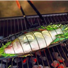 Always serve your freshly grilled fish in one single piece by using this sturdy Fish Grilling Basket while cooking. It's a heavy-gauge carbon steel Tilapia Recipes, Fish Recipes, Cool Kitchen Gadgets, Cool Kitchens, Ideas Para Asar, Salmon Fish Tacos, Grilled Fish, Grilled Salmon, Diy Grill