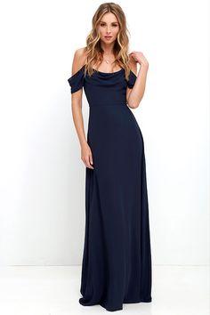 Reflective Radiance Navy Blue Maxi Dress at Lulus.com!