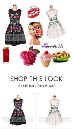 """""""Sevengrils"""" by dilruha ❤ liked on Polyvore featuring vintage"""