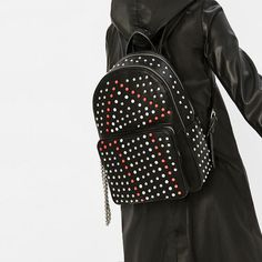 Backpack With Studs   Zara