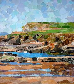 Mixed media-collage landscape..wow