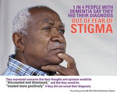 1 in 4 people with #dementia hid their diagnosis out of fear of stigma.