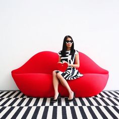 A collection of the best loveseats for sale online. Modern loveseat sleeper beds, Mid-Century Modern loveseats, outdoor weatherproof loveseats, and much more! Weird Furniture, Unique Furniture, Furniture Design, Loveseats For Sale, Lips Sofa, Bedroom Sets, Bedroom Decor, Chicago Fashion, Modern Sofa