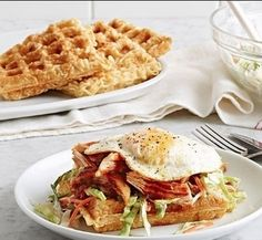 A-Sha Benedict!  This is a super easy recipe. You can pull how to make Ramen waffles off one of our previous posts. Once you make the waffle, just add your favorite toppings and voila! You have an A-Sha Benedict!