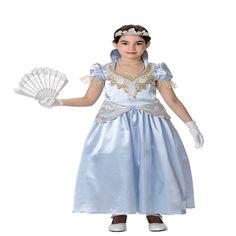 DisfracesMimo, disfraz de cenicienta azul para niña varias tallas. Compra tu disfraz barato niña infantil para tu grupo. Este traje es ideal para tus fiestas temáticas de princesa cenicienta de cuento. fabricacion nacional