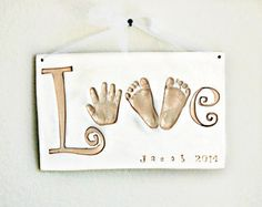 """Baby Gift - Baby Keepsake - Baby Keepsake Gift - Personalized Baby Gift - Baby Nursery Art -  Baby Print """"LOVE Plaque up to 6 months -"""