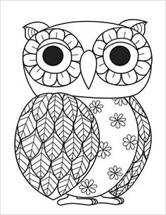 Blank Book Journal: Owl Zentangle Cover Diary Notebook: x 11 size 120 gray lined pages! Color The Cover! Blank Book Journal: Owl Zentangle Cover Diary Notebook: x 11 size 120 gray lined pages! Color The Cover! Coloring Pages To Print, Coloring Book Pages, Coloring For Kids, Printable Coloring Pages, Coloring Sheets, Zentangle Patterns, Embroidery Patterns, Owl Crafts, Blank Book