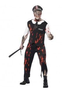 Déguisement zombie policier homme