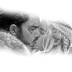 """He has a song. He is the prince who was promised and his is the song of ice and fire. Game Of Thrones Comic, Arte Game Of Thrones, Game Of Thrones Artwork, Dany And Jon, Jon Snow And Daenerys, Game Of Throwns, A Dream Of Spring, Tragic Love Stories, I Love Games"