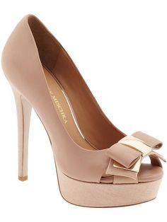zapatos de bodas, un delicado modelo con moño en color nude Zapatos Nude,  Zapatos 7716af8b1e