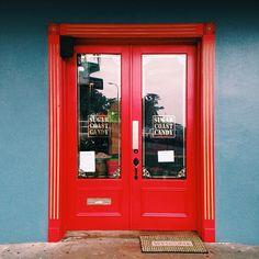 Door in downtown Hilo, Hawaii