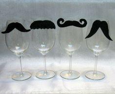 Fancy wine glasses. Lauren we need this!!!!!