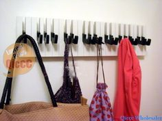 Dropship creative folding piano keyboard sharp door coat Rack hooks /creative bag hook/key holder Gift-in Robe Hooks from Home Improvement on Aliexpress.com