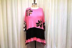 Plus size women sweater top Lagenlook Bohemian tunic Art to