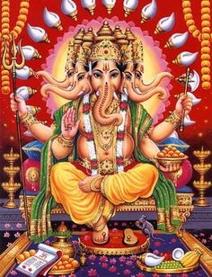 Read the description of top eight avatars or incarnations of Ganesha as mentioned in the Mudgala Purana. To know more about Ganesha avatars, stories of his childhood, marriage and more at The Ganesha Experience. Lord Ganesha, Arte Ganesha, Lord Shiva, Jai Ganesh, Lord Vishnu, Ganesha Pictures, Ganesh Images, Psychedelic Gif, Om Gam Ganapataye Namaha