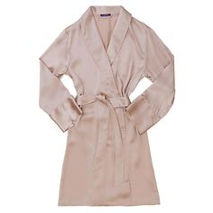 Journelle Silk Robe in Blush. Perfect for lounging on warm breezy days.