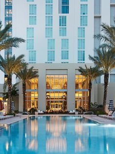 Escape to the Hilton West Palm Beach in Florida for a bachelorette party hotel destination that guarantees some fun in the sun with a lively night scene.