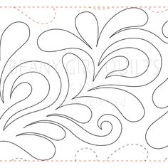 """Tickle - Paper -11"""" - Quilts Complete - Continuous Line Quilting Patterns"""