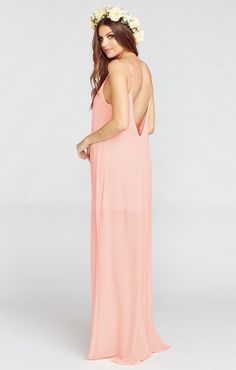 I've purchased this dress before in a floral print and its SUPER flattering... and there are a lot of options for colors. Called Jolie Maxi. $162