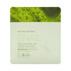 NATURE REPUBLIC Snail Solution 1,000 Hydrogel Mask Sheet (5EA)/ Made in Korea
