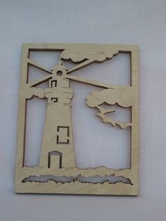 Lighthouse silhouette - wall decoration - wall hanging - scroll saw cut. by ScrollOnDesigns on Etsy