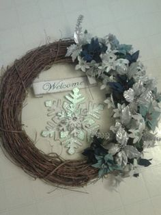 My winter wreath 2012