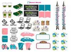 """Tribal functional sheet page 2 """"sticker kit"""" full boxes and headers Free THP (the happy planner by MAMBI) sticker. Free printable sticker layout may be subject to copyright not intended for retail; personal use only"""