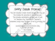 Swirly Doodle Frames