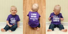 Harrison born 11 weeks too soon, wearing one of my custom shirts from It's a Preemie Thing! <3