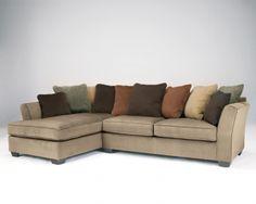 Laken Mocha 2-Piece Sectional w/ Left Facing Chaise