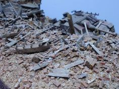 Excellent brick rubble tutorial - topic available at http://www.militarymodelling.com/forums/postings.asp?th=71117&p=1