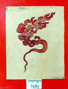 Himalayan Art: Item No. Japanese Artwork, Japanese Tattoo Art, Art Inspiration Drawing, Art Inspo, Japanese Illustration, Botanical Illustration, Old School Tattoo Designs, Tibetan Art, Fire Art