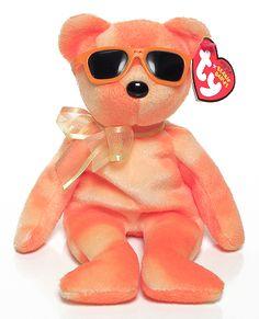 Orange Ice, Ty Beanie Baby bear reference information and photograph. Beanie Baby Bears, Ty Beanie Boos, Ty Stuffed Animals, Plush Animals, Ty Babies, Beenie Babies, Ty Peluche, Ty Bears, Original Beanie Babies