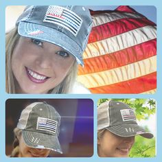 c47241cbe49 Love these Etsy best selling womens baseball hats Blue Red Lines