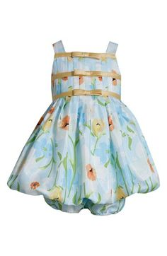 Iris & Ivy Shantung Bubble Dress & Bloomers (Baby Girls) available at #Nordstrom