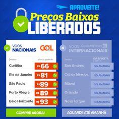 Preços LIBERADOS, voe GOL a partir 66 reais! :: Jacytan Melo Passagens