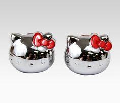 Hello Kitty Car License Plate Bolt Covers: Red Bow  Item #02258-201203  NEW  $18.00