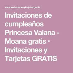 Invitaciones de cumpleaños Princesa Vaiana - Moana gratis • Invitaciones y Tarjetas GRATIS